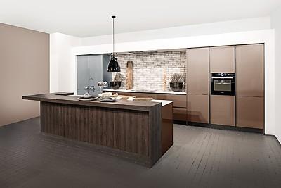 Cocina de diseño, sin tirador Rotpunkt