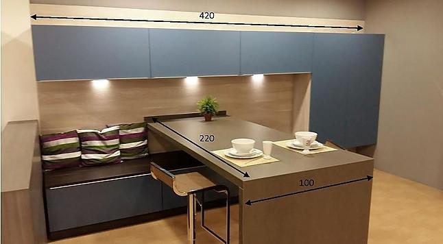 Gm cocinas cocina de exposici n nazca azul e isla for Ofertas cocinas de exposicion
