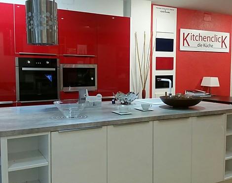 cocina exposicin modelo korsika laca alto brillo color blanco y rojo