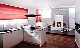 pequea cocina con factor sorpresa la cocina lacada en blanco alto brillo en forma