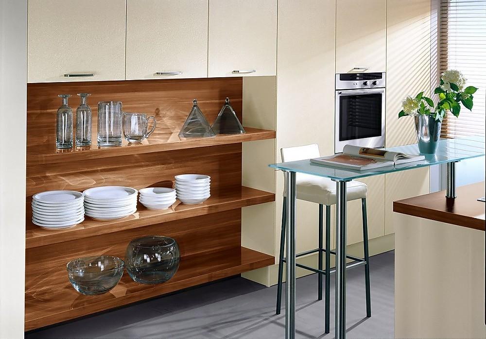 Armario columna en blanco viejo con estanter a integrada de magnolia - Bancos cocina modernos ...