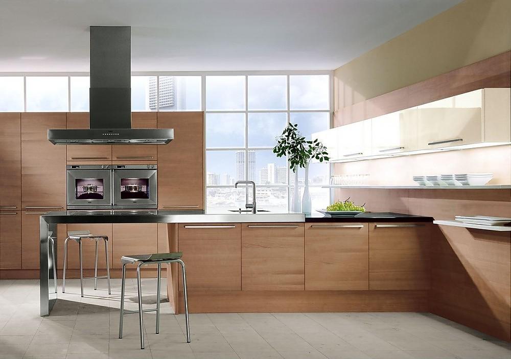 Cocina americana con armario de columna con - Fabricantes de cocinas ...