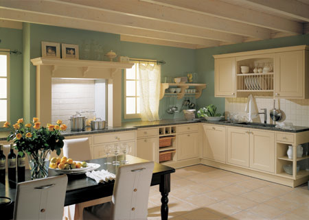 Cocinas rústicas inglesas: las cocinas rústicas en estilo Cottage.