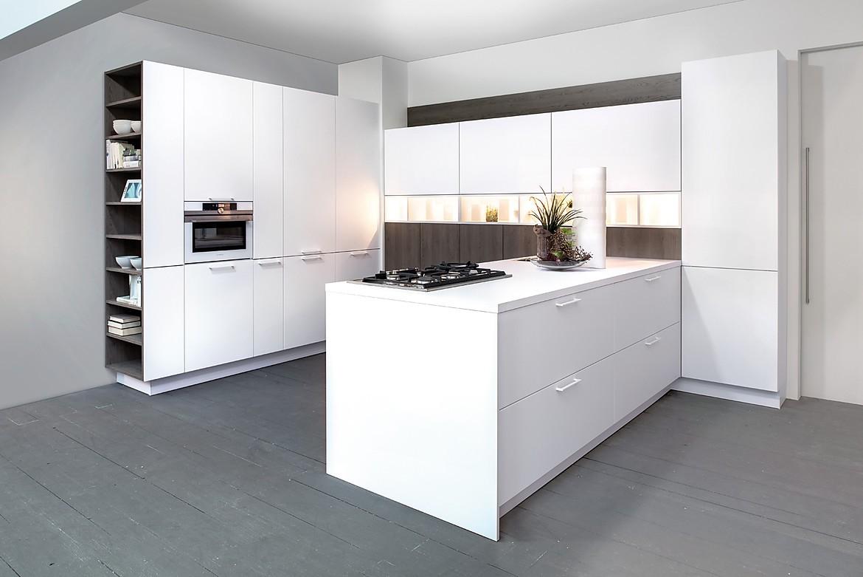 Cocina en u zerox hpl snow zerox grey real oak for Planificador cocinas online