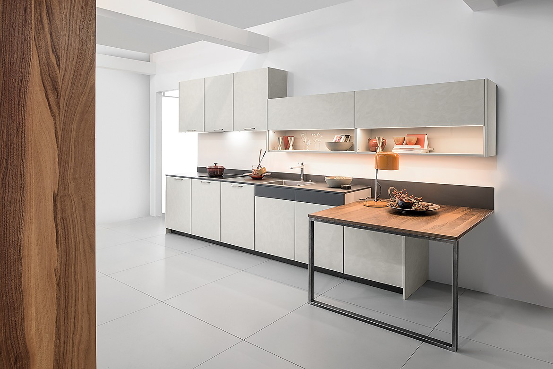 Cocina en linea concrete beton kashmir quattro chapado en - Cocinas en linea ...