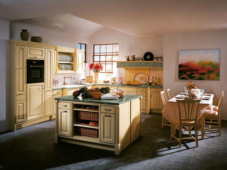 """Cocina rústica estilo francés """"provenzal"""". Cocinas rústicas ..."""