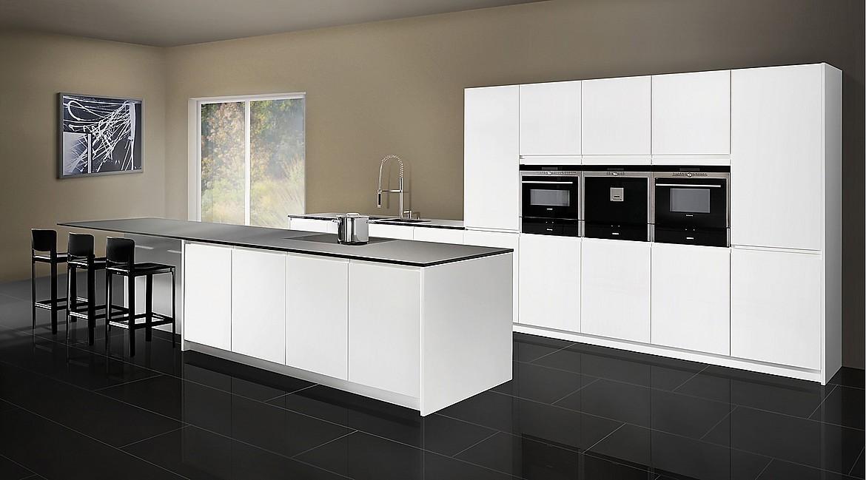 Az iii cocina de cristal blanco en laca de alto brillo - Cocinas exposicion ocasion ...