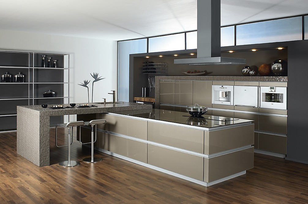 hacer que el diseo sea el centro de esta cocina sin tiradores y with cocinas de diseo italianas - Cocinas Modernas Italianas