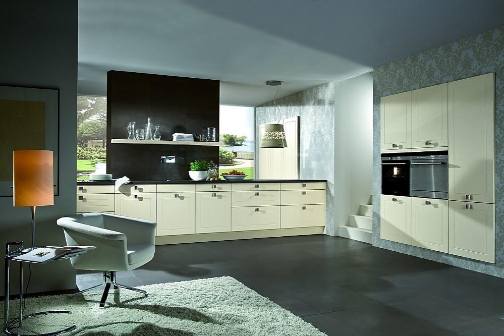 Cocina cl sica lacada en magnolia y crema - Cocinas exposicion ocasion ...