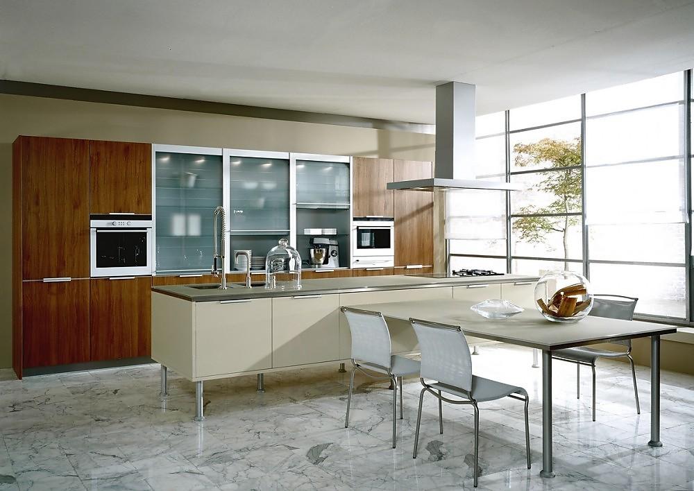 Isla de cocina finca nova color lacada en blanco y nogal - Cocinas con electrodomesticos blancos ...