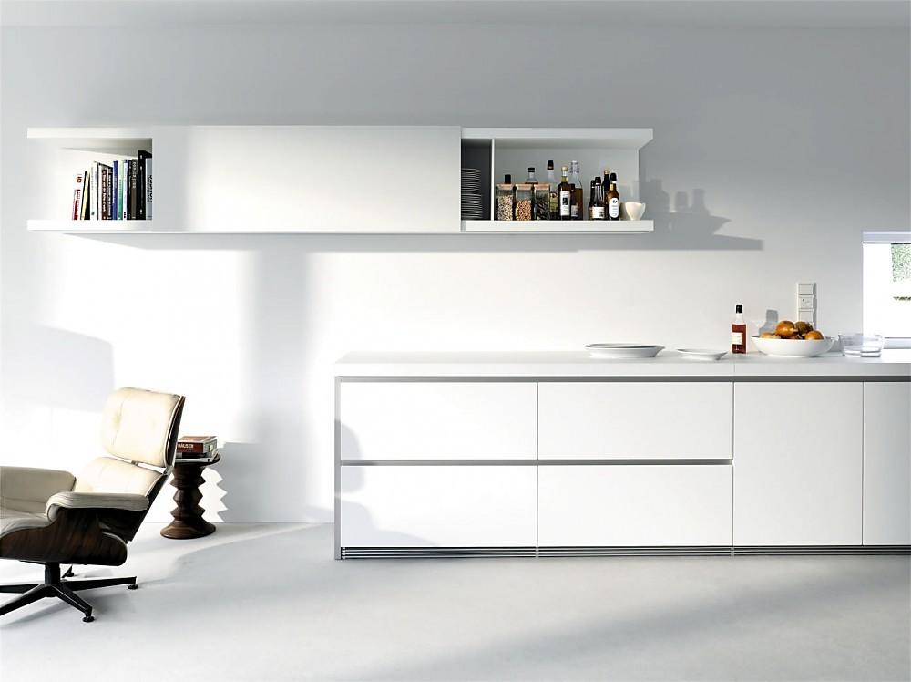 Cocina blanca en l nea sin tiradores de la serie b1 - Cocina blanca sin tiradores ...