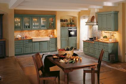 Cocina r stica estilo franc s provenzal cocinas - Cocinas rusticas de campo ...
