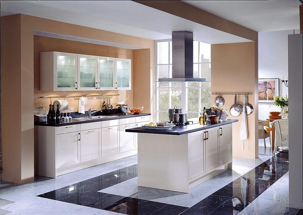 Isla de cocina en blanco crema y dise o cl sico con - Diseno de cocinas online ...