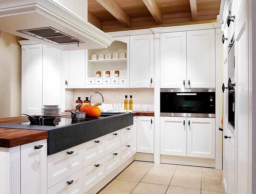 Isla de cocina blanca oxford de estilo r stico en madera - Cocina rustica blanca ...