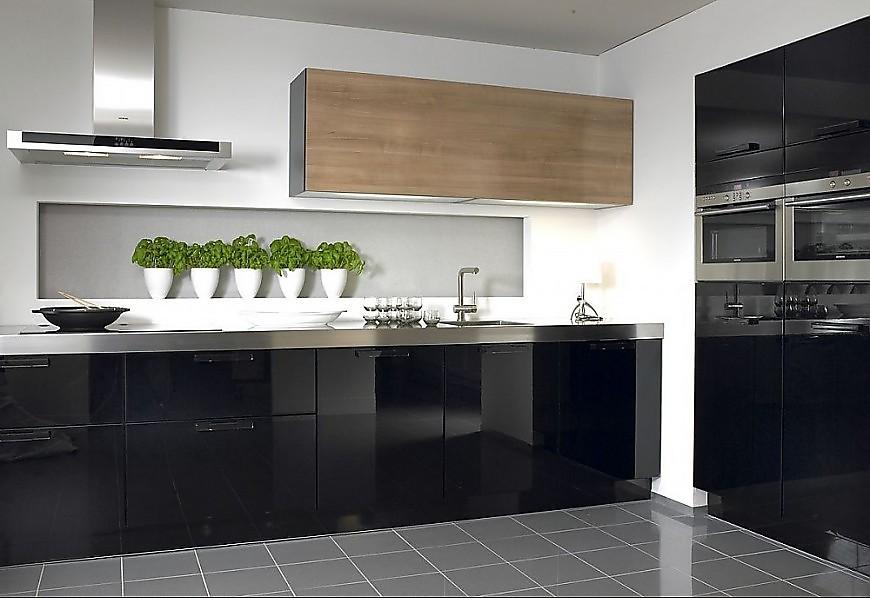 Cocina en linea lucido en negro alto brillo - Cocinas en linea ...